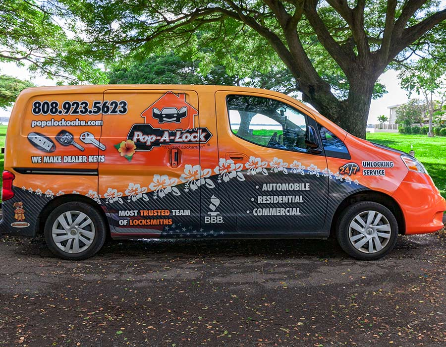 image of Pop A Lock company van