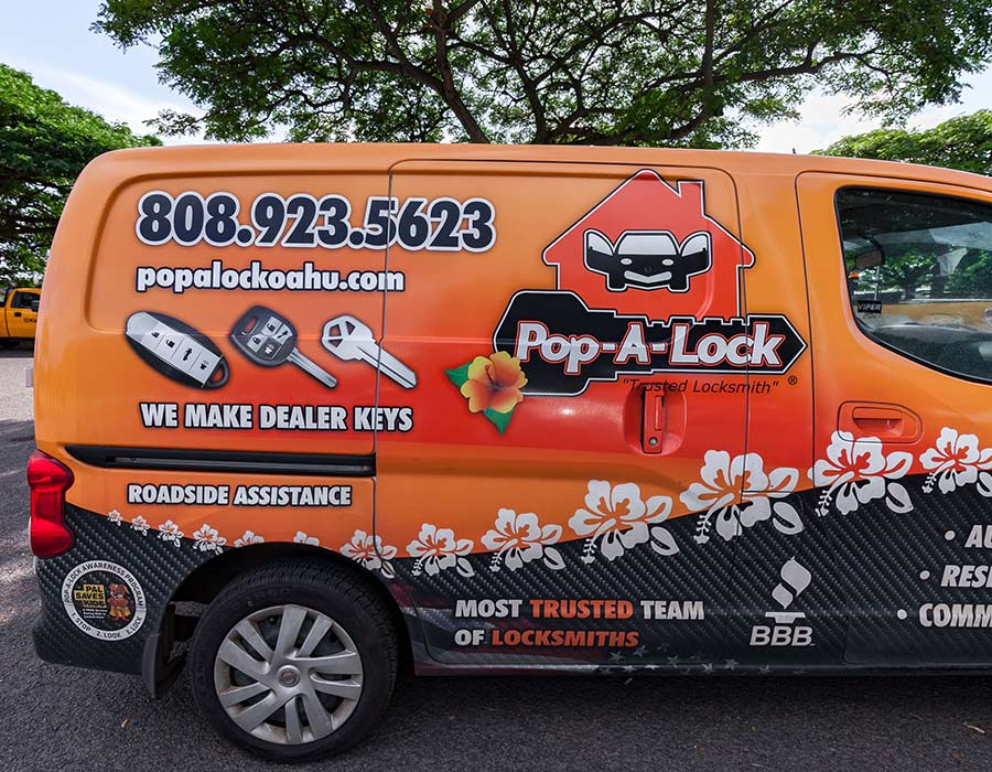 image of pop a lock van